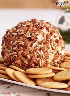 Party Cheese Ball – Known to frequent every occasion, this creamy cheese ball appetizer is a classic for a reason. Save the full recipe to make this five-star rated dish for your next party. Get the i (Classic Cheese Ball) Beef Cheese Ball Recipe, Cheese Ball Recipes, Appetizer Recipes, Appetizer Ideas, Yummy Appetizers, Kraft Recipes, Top Recipes, Cooking Recipes, What's Cooking