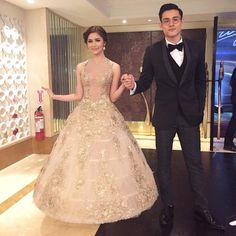"Kim chiu on Instagram: ""with my ""dashing"" date!!!😄 naks!!!🌟 haha @xianlimm #StarMagicBall2015"""