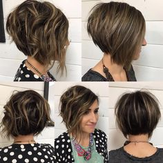 """#haircut on my #hairbestie again. Shorter and lots more texture. Her color was a joint effort, fellow stylist threw her highlights in then I took over the…"""