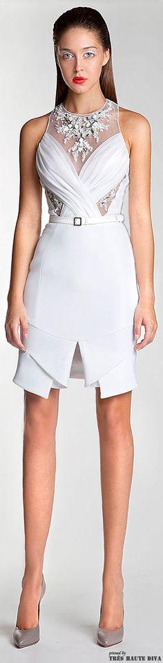 Basil Soda S/S 2014 jaglady Lovely Dresses, Beautiful Gowns, Sexy Dresses, Short Dresses, Fashion Dresses, Formal Dresses, Club Dresses, White Cocktail Dress, White Dress
