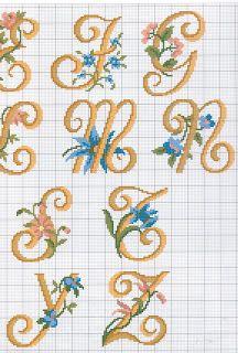 Arte e croche: Alfabeto ponto cruz