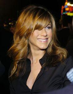 Love these bangs on Jennifer Aniston