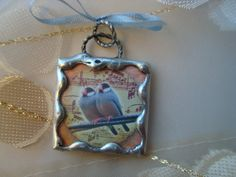 BEST FRIENDS  Soldered Glass Pendant or Charm by victoriacharlotte, $7.95
