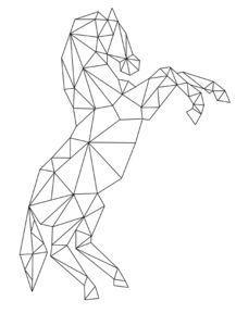 65 Ideas Tattoo Geometric Horse Tat For 2019 Geometric Quilt, Geometric Drawing, Geometric Designs, Lion Origami, Stylo 3d, Polygon Art, 3d Pen, Geometry Art, 3d Prints