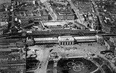 Vecchia Stazione Centrale, Milano, p.le Fiume (ora piazza della Repubblica)