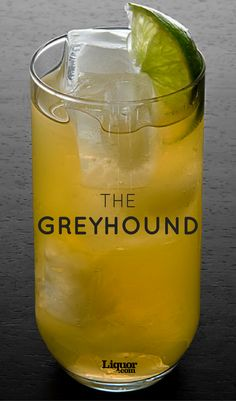 The Greyhound is a classic two ingredient vodka cocktail that can be made anywhere at any time! Mixing up the Greyhound is as quick as its namesake. Vodka Drinks, Wine Cocktails, Drinks Alcohol Recipes, Alcoholic Drinks, Beverages, Fancy Drinks, Drink Recipes, Types Of Cocktails, Classic Cocktails