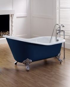 Astonian Slipper 1550x765mm no-taphole cast iron bath on ball and claw feet