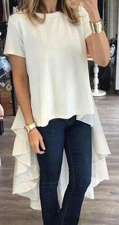Knitting Sweter Outfit Long Ideas For 2019 Casual Chic, Casual Wear, Lingerie Look, Mode Jeans, Look Chic, Mode Style, Dress Patterns, Blouse Designs, Trendy Outfits