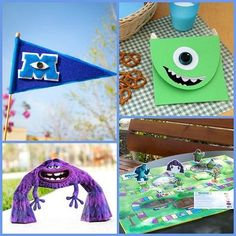 Monsters University Crafts & Recipes. #DisneySide Party Ideas!