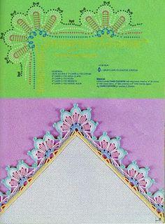 "Photo from album ""Barrados on Yandex. Crochet Border Patterns, Crochet Blanket Border, Crochet Doily Diagram, Crochet Basket Pattern, Doily Patterns, Crochet Motif, Crochet Designs, Crochet Lace, Crochet Stitches"