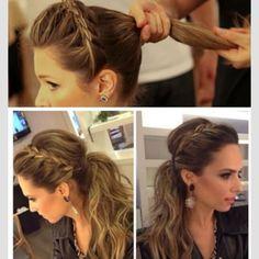 .@b_addtomybeauty | Love this look!!! Side braid messy Updo  | Webstagram