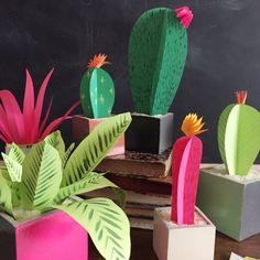 Make plants that never need watering with this simple tutorial. You'll learn how to make cacti, succulents, and greenery.