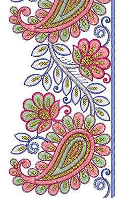 Beautiful Paisley Lawn Suit Lace Design