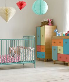 Mothercare Carnaby Cot Bed Turquoise