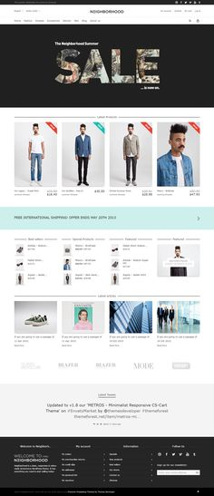 Neighborhood – Responsive Prestashop Theme With Powerful Admin Options.  Neighborhood is a Modern Fully Responsive Retina Ready #PrestaShop #theme based on Twitter Bootstrap. #ecommercetemplate #fashionstore