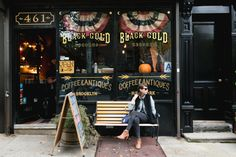 Black Gold Records—Records, coffee + antiques. Need I really say more? | photography by http://www.brookelynphotography.com/