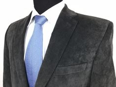 Show the world that you are a man of style with this peace. Find a vast array of masculine styles suitable for the office or any other special occasion at designerclothingfans.com | CALVIN KLEIN Mens 42R Gray Poly/Stretch Corduroy 2-Button Sport Coat/Jacket #CalvinKlein | Men's Fashion & Style | Menswear | Men's Apparel | Moda Masculina.