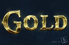 In this tutorial we will show you how to create a Shiny, Gold text effect using Adobe Photoshop. It's a pretty short tutorial that might teach you some new s. Tutorial Photoshop, Photoshop Fonts, Photoshop Text Effects, Creative Photoshop, Typography Tutorial, Vintage Typography, Illustrator Tutorials, Adobe Illustrator, Photoshop Photography