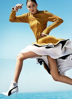 Gigi Hadid and Olympic Decathlete Ashton Eaton Go for Fashion Gold