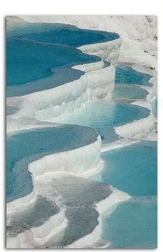 Pamukkale, Turkey, thermal pools, Salt terraces posted on Facebook by Textile Design and Designers Platform