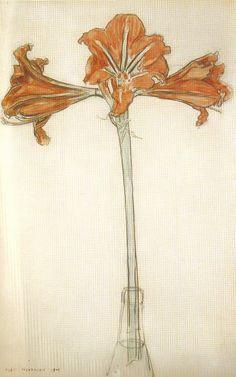 Flores, de Piet Mondrian  (1872-1944)  Pocas personas conocen las flores de Piet Mondrian. Yo las descubrí ayer gracias...