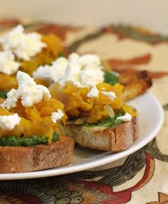 Recipe ReDux: Pumpkin Pesto Bruschetta