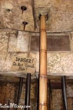 Pull the do not touch or pull pole. It will make a loud booming noise and the ceiling will appear to be caving in.