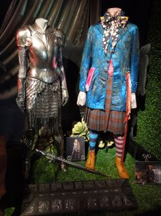 Alice's White Knight armour and the Mad Hatter's battle costume,
