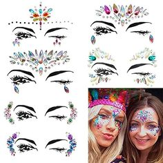 Body Fine 1pc Body Decor Sticker Can Be Stick On Self Adhesive Gems,acrylic For Pool Party Makeup,holiday Glam Kit Makeup