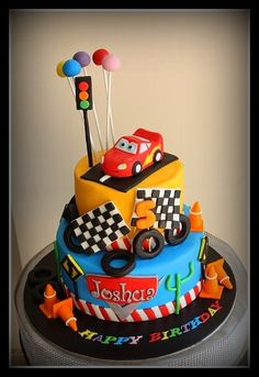 Lightning Mcqueen car cake 3                                                                                                                                                                                 More