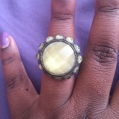 Antique style Antique style ring in bronze setting sz 7 Jewelry Rings