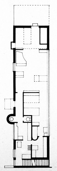 archive of affinities LE CORBUSIER, MOTHER'S HOUSE, FLOOR PLAN, LAKE GENEVA, 1924
