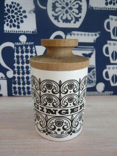 SALE! REDUCED Hornsea Ginger Spice Jar Retro Vintage Mid Century 1960's