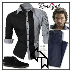 """""""Rosegal contest"""" by lejla150 ❤ liked on Polyvore featuring Lands' End, Topman, men's fashion and menswear"""