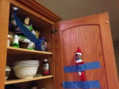 This ones actually cute. And buzz is taking down the evil elf on the shelf. More