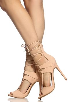 Blush Faux Nubuck Lace Up Single Sole Heels @ Cicihot Heel Shoes online store sales:Stiletto Heel Shoes,High Heel Pumps,Womens High Heel Shoes,Prom Shoes,Summer Shoes,Spring Shoes,Spool Heel,Womens Dress Shoes