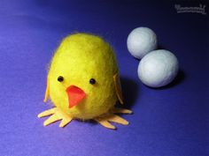 Actividades con niños para Pascua: pollitos de fieltro y jabón
