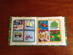 You will enjoy collecting I Spy fabrics to make your own cloth book pattern.There are eight pages. Each page has four squares of pictures