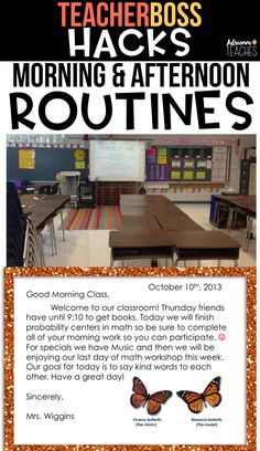 Be a Teacher Boss and hack morning afternoon routines by managing them in an effective way. This idea works in second grade, third grade, fourth grade, fifth grade, sixth grade, and up!