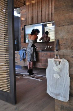 Amazing timber bathroom vanity