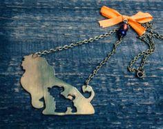 FREE SHIPPING, The Lion King necklace, Disney Jewelry, Hakuna Matata Jewelry, Disney Necklace, Simba pendant,Women necklace
