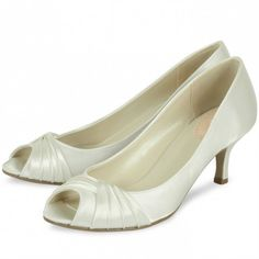 ebea9d53a0b5 Romantic by Pink for Paradox London Ivory Peep Toe Vintage Wedding or  Occasion Shoes Occasion Shoes