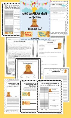 Groundhog Day mini unit!  Also includes informational text and questions.  Math, Literacy, and Science. Will need for Jan. 24th!