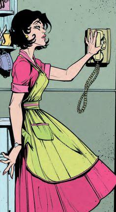Lady Killer from Dark Horse Comic Book Girl, Comic Books Art, Comic Art, Comic Book Style Art, Bd Pop Art, Bd Art, Dc Comics, Joelle, Comic Panels