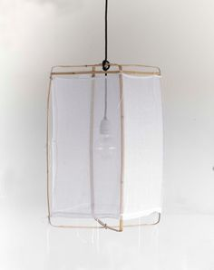 nelson sepulveda bamboo and cotton pendant light