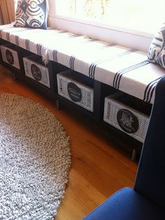 IKEA Lak bookcase turned window bench