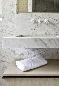 Look We Love: White Marble in the Bathroom