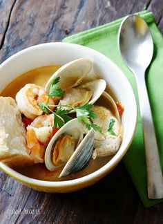 Food So Good Mall: Little Neck Clams and Shrimp in Savory Broth