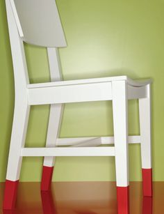 Plasti Dip chair legs to protect floors and give chairs a new look!