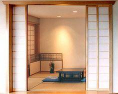 Shoji screens create a subtle and elegant tatami room.